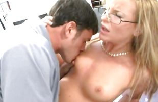 Mature blonde lady with great natural tits gets screwed hard and enjoys multiple orgasms