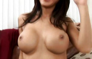 Luxurious busty girlie Tia Ling is about to have sex in front of her web camera just for fun