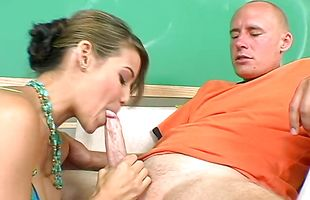 Lovable Ryder Skye did her best to satisfy stud with her very soft lips