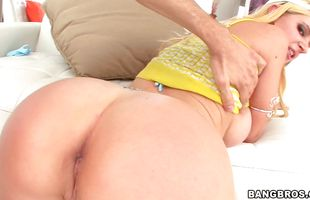 Talented fellow is satisfying sexual desires of foxy mature floosy Anita Blue with big tits