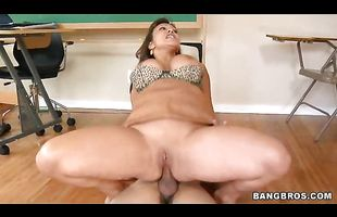 Playful busty eastern Ava Devine gets caressed and spoiled by a crazy stud