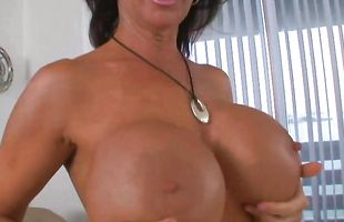 Fascinating brunette mature Deauxma eagerly pleases the experienced fellow's needy boner