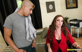 Classy booty mature Jessica Rayne's awesome butt is bruised from the rough pounding