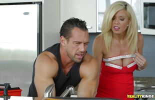 Delicious blonde mature Parker Swayze enjoys riding massive and hard penis