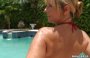 Classy mature darling Jodi West gets banged by a large pecker