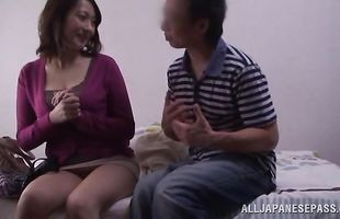 Slender mature woman gets nailed by lover
