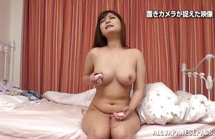 Ravishing busty sweetheart impales her perfect ass on a long boner