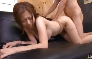 Appealing busty Chihiro Akino is cheating on with mate quite often just because it excites her a lot