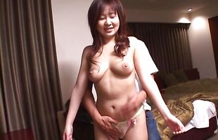 Insatiable mom Nanami Komachi is dancing for stud and getting ready to fuck him until he cums