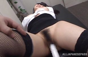 Sensational mature Akane Yoshinaga is always ready to test lad for the movie and many skills