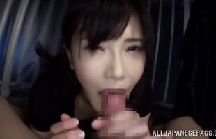 Sensual hottie Anri Okita bangs wildly with male