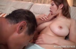 Breathtaking mature darling with great tits wants to ride big cock