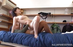 Spicy babe Anri has a moisty vag to give out