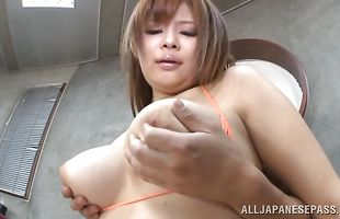 Pungent bimbo Ramu Hoshino is about to get fucked because she wants to be a pornstar