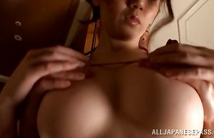 Filthy mature sweetheart Maki Koizumi eagerly takes a ride with a bf