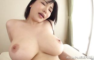 Lovely busty Anri Okita gets pounded like a dirty whore