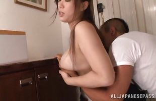 Sinful mature girl Karen Saijyou can't wait to get her mouth around stiff pipe