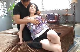 Voracious Minako Komukai is happy to be dicked by a big rod