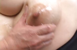 Admirable floosy Nana Aoyama with impressive tits gets her lovebox eaten
