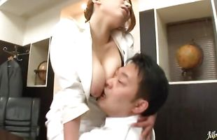 Delectable perfection Ai Sayama got fucked from the back in front of the camera for the first time