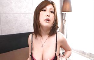 Adorable Rio Hamasaki with round tits has a fine time riding the hard fang
