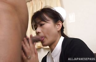 Inviting busty perfection Eriko Miura gladly takes a deep dicking