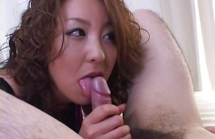 Admirable darling Luna Mikami gets banged by a big stick