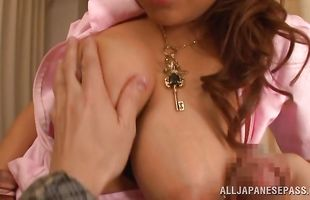 Attractive busty mom got banged until her honey pot got creampied