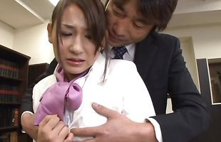 Smashing appealing Chihara Nakai gets the right tool in the right cooter
