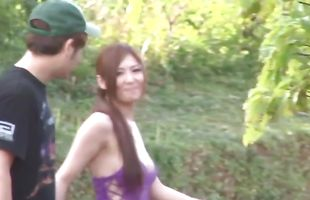 Aroused busty cougar Yuna Shiina could not hold back from spreading her legs wide open to get fucked good