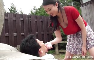 Dirty Emiko Ejima with impressive tits bangs a boyfriend