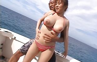 Worshipped busty Nana Aoyama gets it too hard