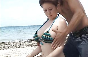 Enticing mature Nana Aoyama with impressive tits are too damn hot not to fuck