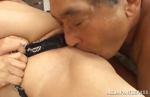 Delightful mature maiden loves giving blowjobs all around