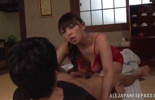 Delectable mature Ryoko Murakami is riding a rock hard pipe like a real pro, and moaning from pleasure