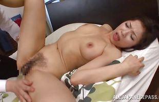 Sensual mature minx Yukino Shindou is sucking her dude's hard lovestick