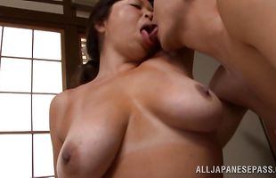 Dirty mature honey Natsuko Kayama loves to suck a large fuck stick