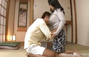 Mischievous Rumiko Yanagi is getting banged like never before and getting ready to cum