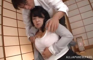 Pretty bimbo Emiko Ejima is cheating on with mate just because he started doing it first
