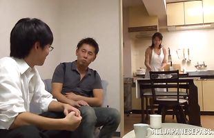 Sweet Eriko Miura is doing her things while her lover is trying to fuck her