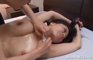 Sugary girlfriend Miki Sato flirts with a bf