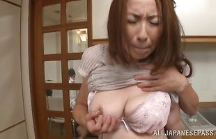 Uncouth and wet blowjob from a mature diva Aoi Aoyama