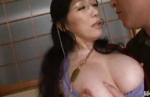 Luscious Yuuko Sakurai with massive tits loves getting her wet lovebox fucked