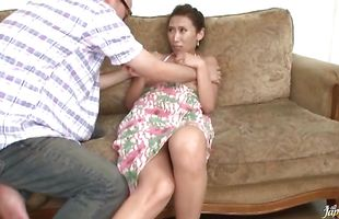 Tempting mature Asuka Yuki is ready for cherry pounding
