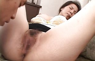 Astonishing busty mature Juri Yamaguchi has a round butt and loves to ride cock