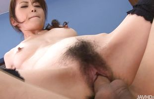 Astounding busty cougar Maki Hojo cries with joy while having her twat roughly pounded