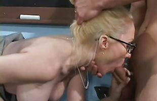Dazzling girlie Dalny Marga with firm natural tits receives a big python in her juicy pussy
