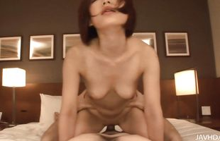 Glamor mature Nene Iino enjoys riding pal with pleasure