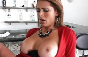 Pungent busty latina brunette bombshell Monique Fuentes fucked from behind
