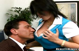 Nasty maiden Charisma Cappelli receives a thick rod in her pussy